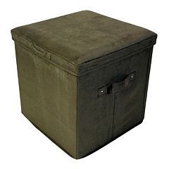 Casual Home Folding Padded Storage Ottoman by