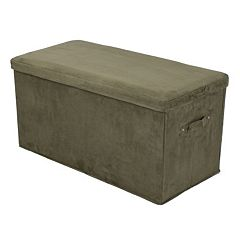Casual Home Folding Padded Storage Bench by