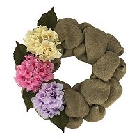 Celebrate Easter Together Burlap Wreath
