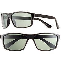 Men's Dockers Polarized Black Wrap Sunglasses