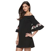 Women's Jennifer Lopez Embroidered Off-the-Shoulder Dress