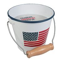 Celebrate Americana Together 8.8 oz. Citronella Wax USA Flag Candle Bucket