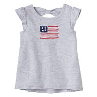 Baby Girl Jumping Beans® Patriotic Bow-Back Tee