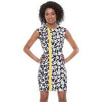 Petite Suite 7 Stem Petal Cap Sleeve Sheath Dress