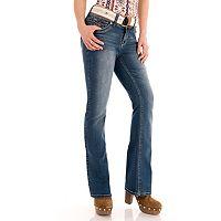 Juniors' Wallflower Faded Luscious Curvy Bootcut Jeans