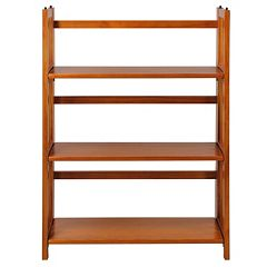 Casual Home 3-Shelf Stackable Folding Bookcase  by