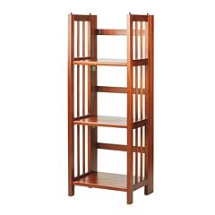 Casual Home 3-Shelf Folding Stackable Bookcase by