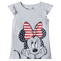 Disney's Minnie Mouse Girls 4-10 Americana Bow Flutter Tee by Jumping Beans®