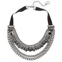 Simply Vera Vera Wang Ribbon Chain Swag Necklace