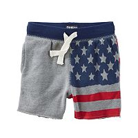 Baby Boy Carter's American Flag French Terry Shorts