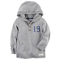 Toddler Boy Carter's Number Applique Hooded Henley