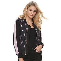 Juniors' Jolie Vie Floral Bomber Jacket