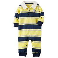 Baby Boy Carter's Striped Polo Coverall