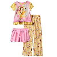 Disney Princess Belle Girls 4-8 Pajama Set