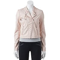 Juniors' Candie's® Faux-Leather Moto Jacket