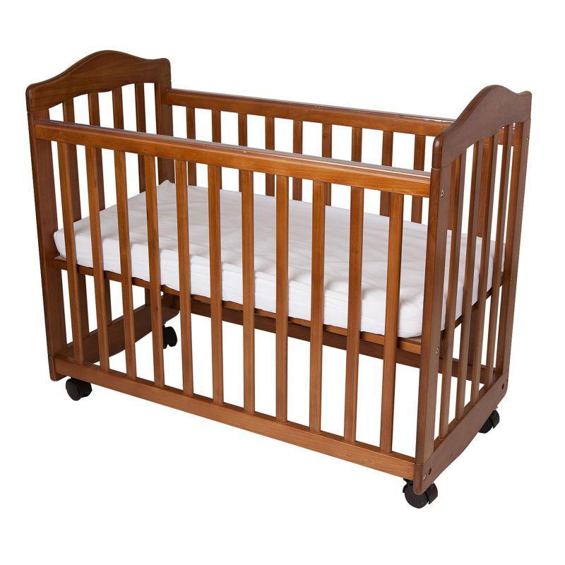 LA Baby The Original Bedside Manor Crib, Brown thumbnail