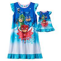 Girls 4-8 PJ Masks Catboy, Owlette & Gekko