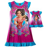 Disney's Elena of Avalor Girls 4-8 Dorm Nightgown & Doll Gown Set