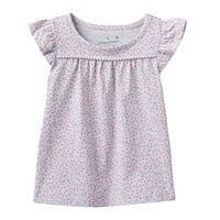 Baby Girl Jumping Beans® Print Pom Tee