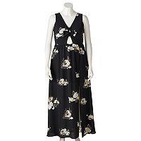 Juniors' Plus Size Candie's® Floral Cutout Maxi Dress