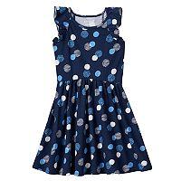 Girls 4-10 Jumping Beans® Pattern Flutter Sleeve Dress