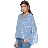Women's Jennifer Lopez Print Chiffon Top