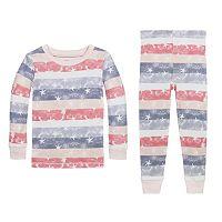 Toddler Burt's Bees Baby Organic Stars & Stripes Pajama Set