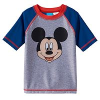 Disney's Mickey Mouse Toddler Boy Colorblock Rashguard