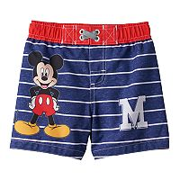 Disney's Mickey Mouse Baby Boy Striped Swim Shorts