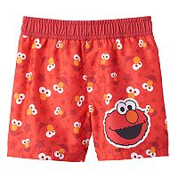 Baby Boy Sesame Street Elmo Swim Shorts