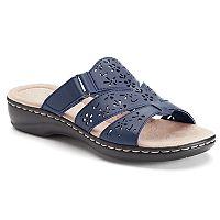 Croft & Barrow® Women's Cutout Slide Sandals