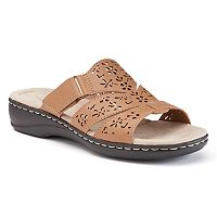 Croft & Barrow® Women's Cutout Slide Sandals