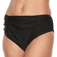 Women's Croft & Barrow® Tummy Control Ruched Hipster Bottoms