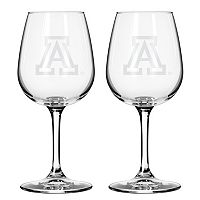 Boelter Arizona Wildcats 2-Pack Etched Wine Glasses