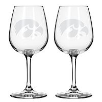 Boelter Iowa Hawkeyes 2-Pack Etched Wine Glasses