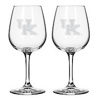 Boelter Kentucky Wildcats 2-Pack Etched Wine Glasses