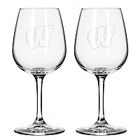 Boelter Wisconsin Badgers 2-Pack Etched Wine Glasses
