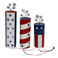 Celebrate Americana Together Firecrackers LED Table Lamp