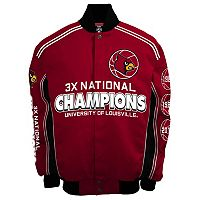 Men's Franchise Club Louisville Cardinals Commemorative Varsity Jacket