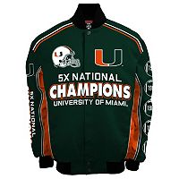 Men's Franchise Club Miami Hurricanes Commemorative Varsity Jacket