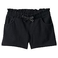 Toddler Girl Jumping Beans® Solid Black Paper Bag Waist Shorts