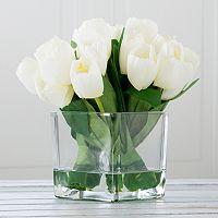 Pure Garden Artificial Tulip Floral Arrangement