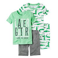 Boys 4-8 Carter's Alligator 4-Piece Pajama Set