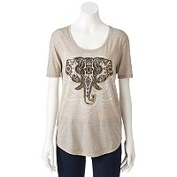 Juniors' Fifth Sun Hamsa Elephant Graphic Tee
