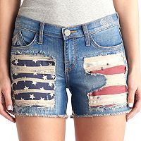 Women's Rock & Republic® Hula Flag Jean Shorts
