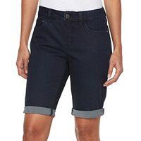 Women's Croft & Barrow® Cuffed Jean Bermuda Shorts