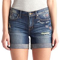 Women's Rock & Republic® Bumpershoot Patriotic Patch Jean Shorts