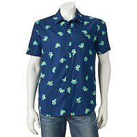 Men's Pokemon Squirtle Button-Down Shirt