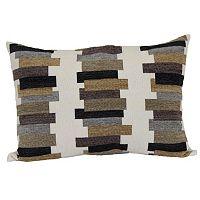 Brentwood Anchetta Bar Stripe Woven Oblong Throw Pillow