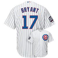 Men's Majestic Chicago Cubs Kris Bryant 2016 World Series Champions Cool Base Replica Jersey